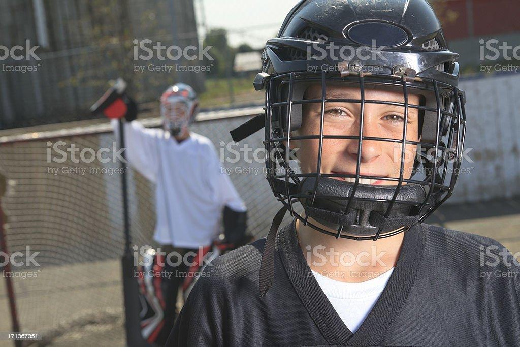 Street Hockey - Happy Player stock photo