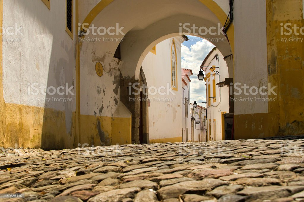 Street in a Portuguese village stock photo