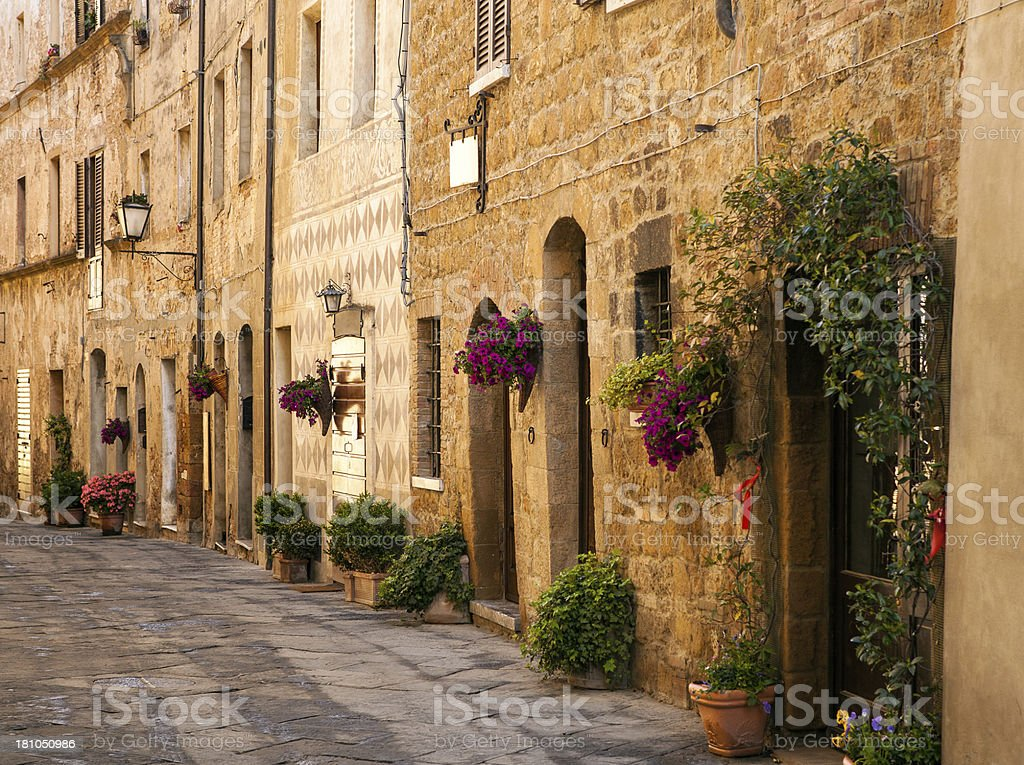 Street in a tuscan village royalty-free stock photo