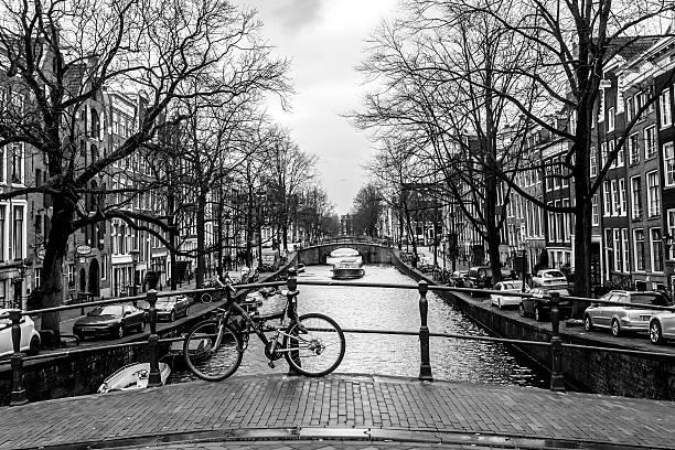 Street in Amsterdam, Europe stock photo