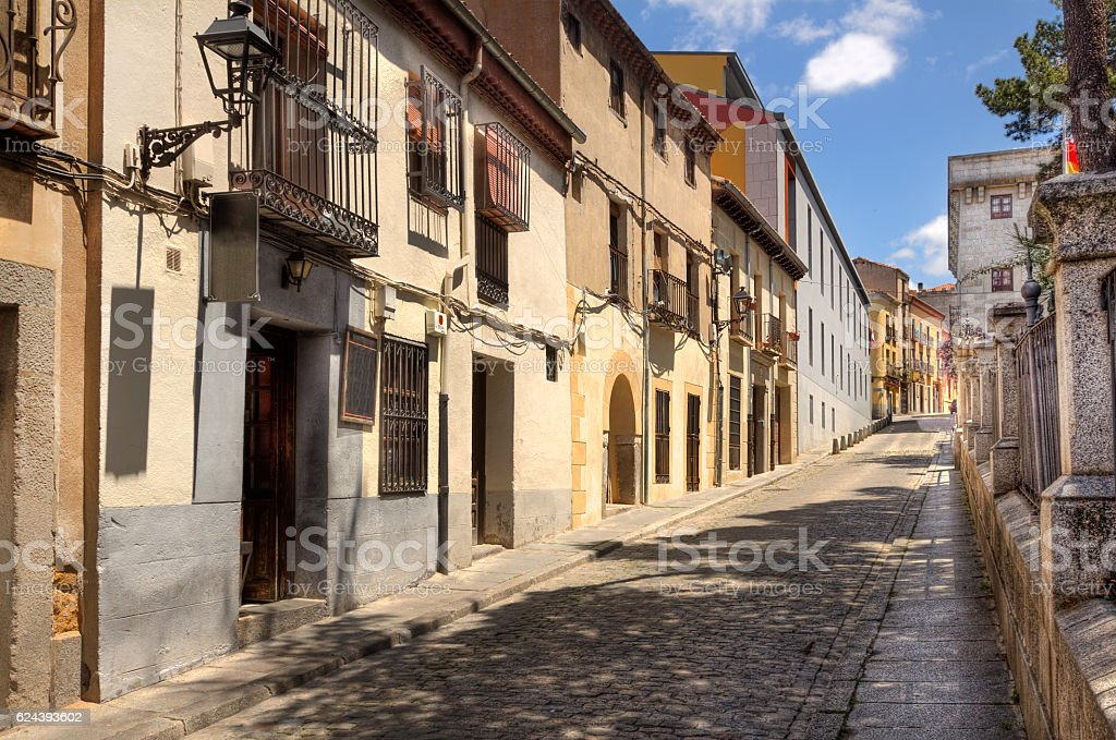 Street in Avila, Spain stock photo