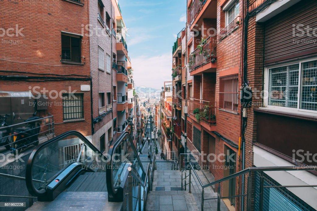 Street in Barcelona stock photo