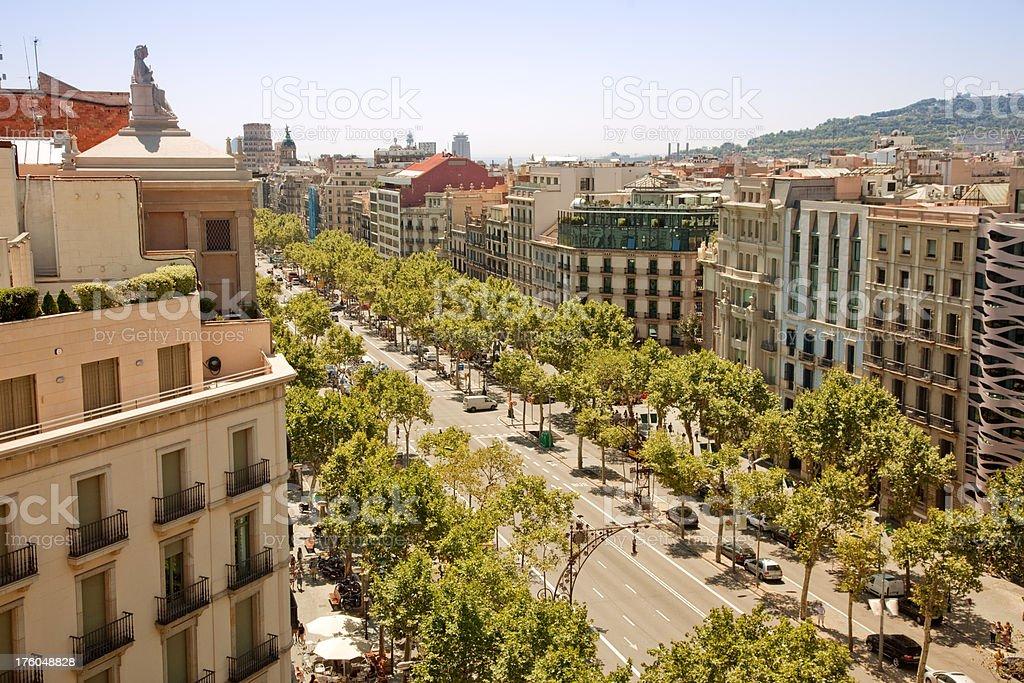 Street in Barcelona, Spain royalty-free stock photo