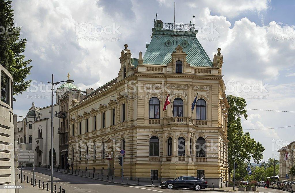 street  in Belgrade stock photo