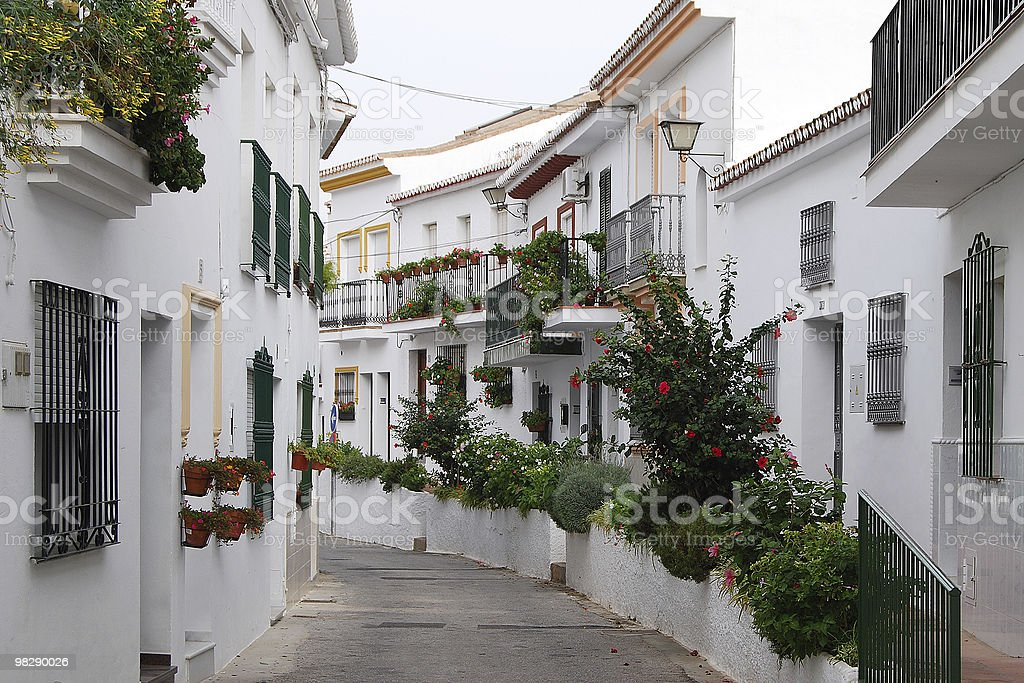 Street in Benalmadena. Spain royalty-free stock photo