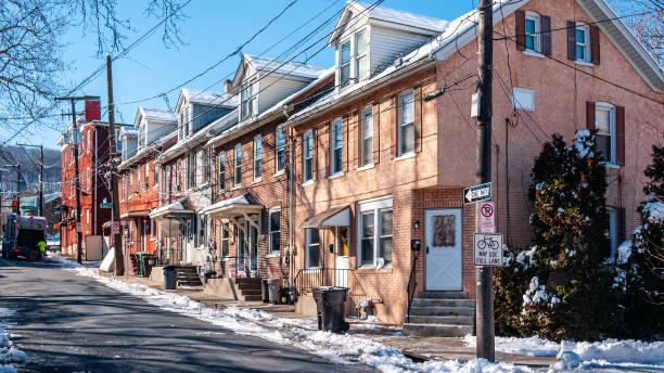 Street in Bethlehem, PA stock photo