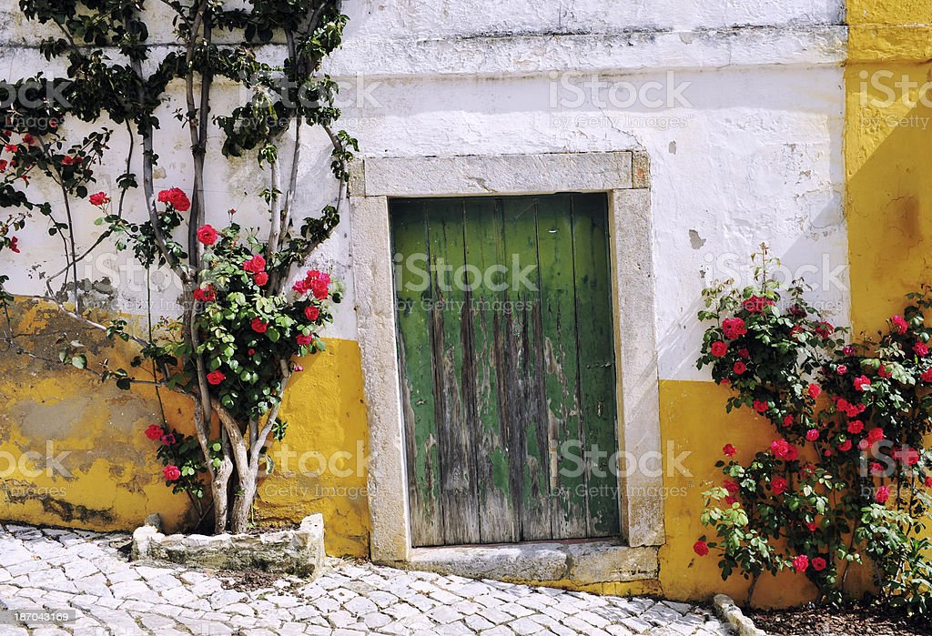 Street in Óbidos royalty-free stock photo