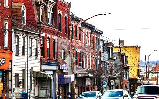 Liberty Avenue in Bloomfield district, Pittsburgh, Pennsylvania, USA