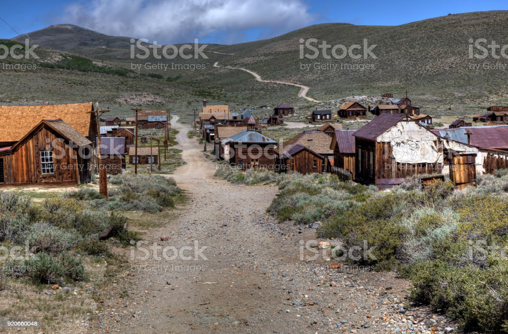 A Street in Bodie stock photo
