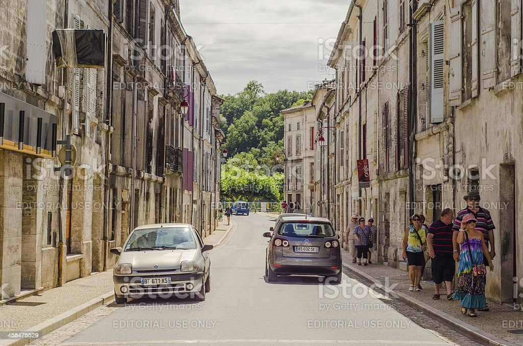 Street in Brantôme royalty-free stock photo