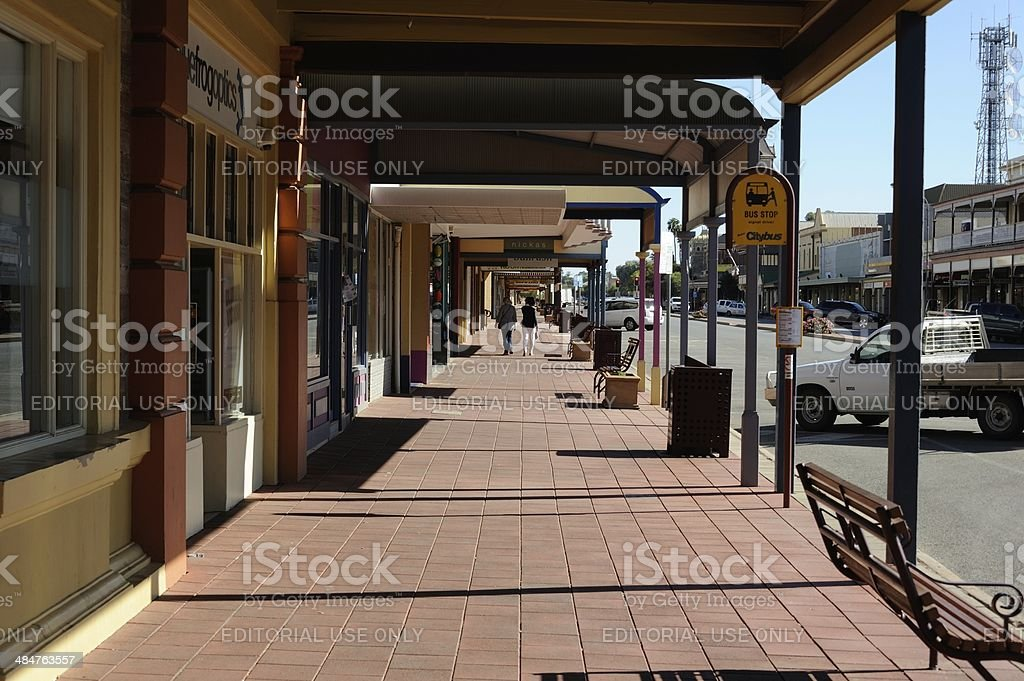 Street in Broken Hill stock photo