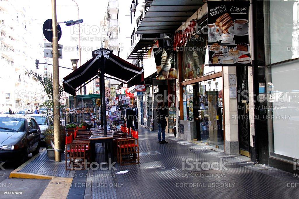 street in Buenos Aires royaltyfri bildbanksbilder