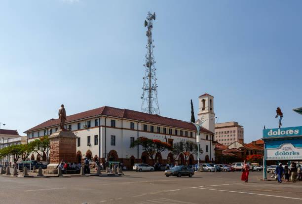 Street in Bulawayo City, Zimbabwe stock photo