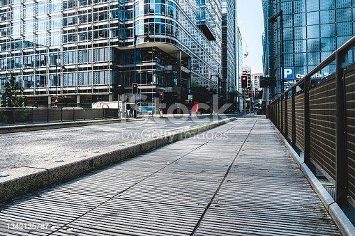 istock Street in canary wharf 1342135787
