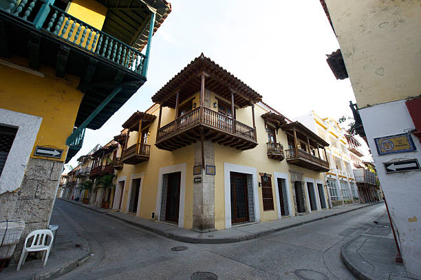 Street in Cartagena de Indias stock photo