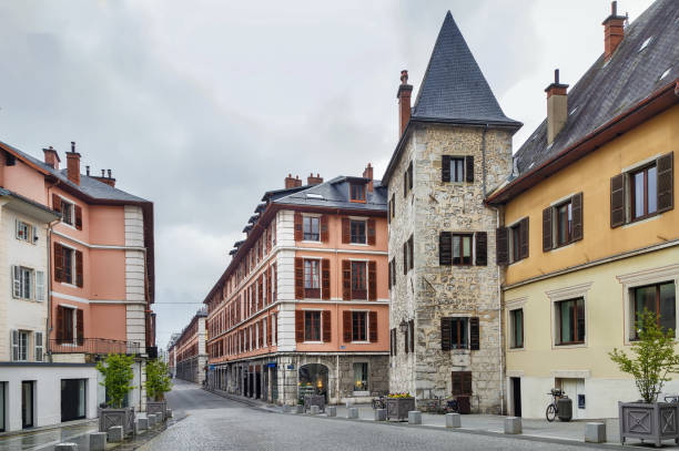 Straße in Chambery, Frankreich – Foto
