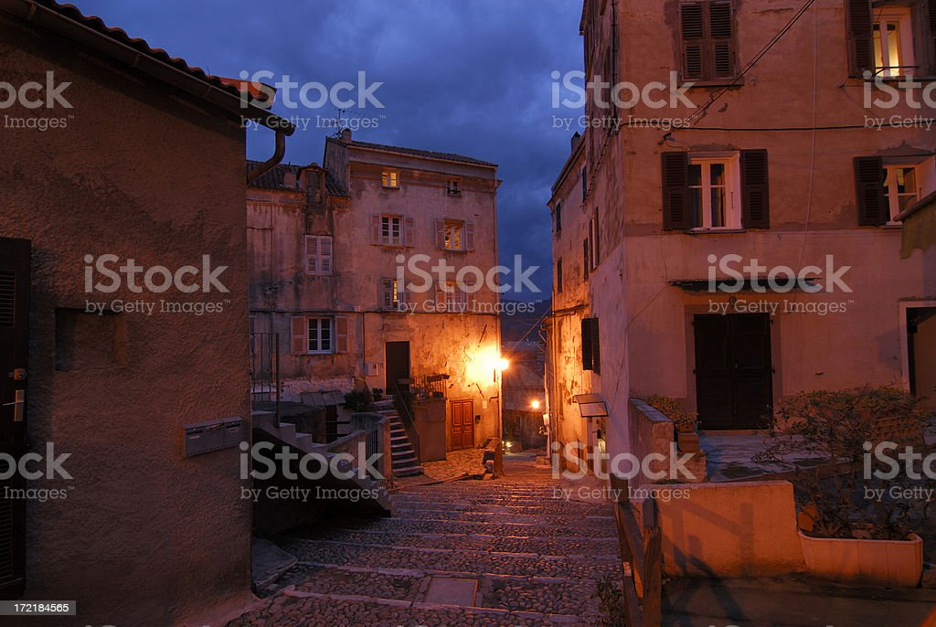 street in Corte (Corsica) royalty-free stock photo