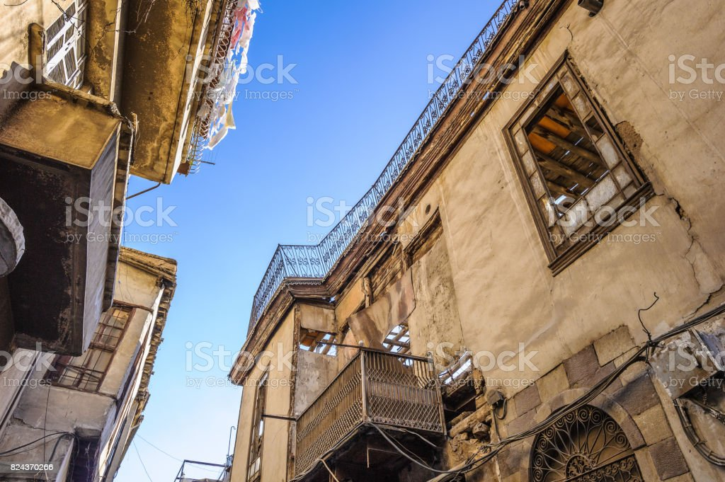 Street in Damascus, Syria stock photo
