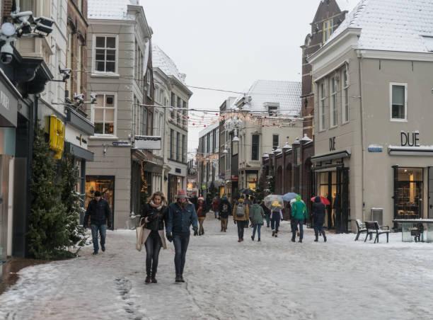 Street in Den Bosch, The Netherlands stock photo