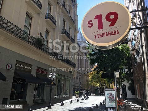 istock Street in downtown Buenos Aires 1160361635