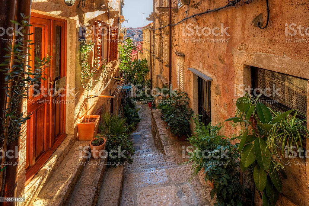 street in Dubrovnik. Croatia. stock photo