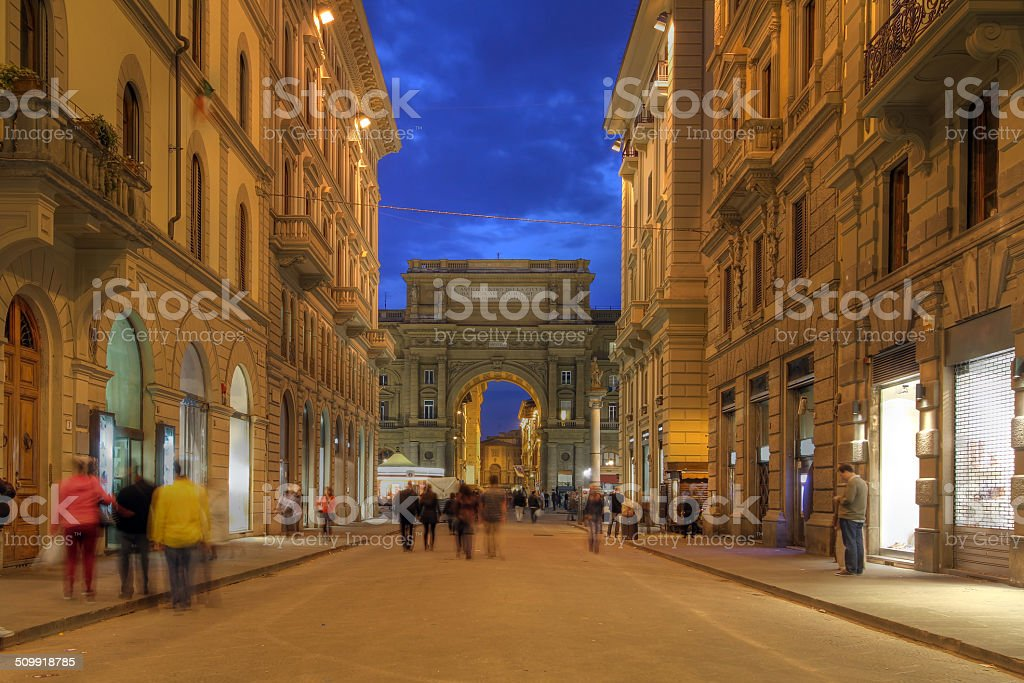Street in Florence, Italy stock photo