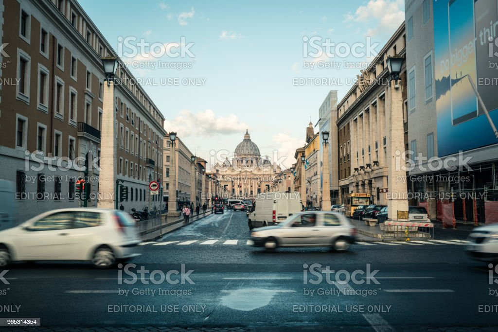 Street in front of St. Peter's Square in Vatican. royalty-free stock photo