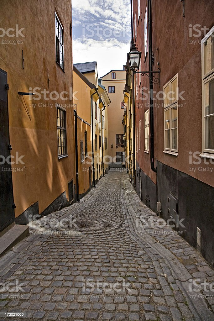 Street in Gamla Stan Stockholm royalty-free stock photo
