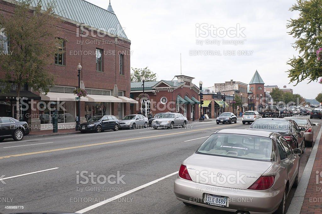 M Street in Georgetown, Washington DC, USA royalty-free stock photo