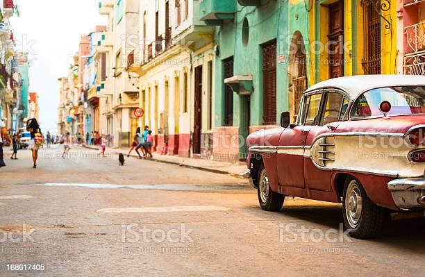 Street in havana cuba with vitage american car picture id168617405?b=1&k=6&m=168617405&s=612x612&h=3i6dvix6nmrwtzquh32fzy4dcekqmdugqs44449r0jk=