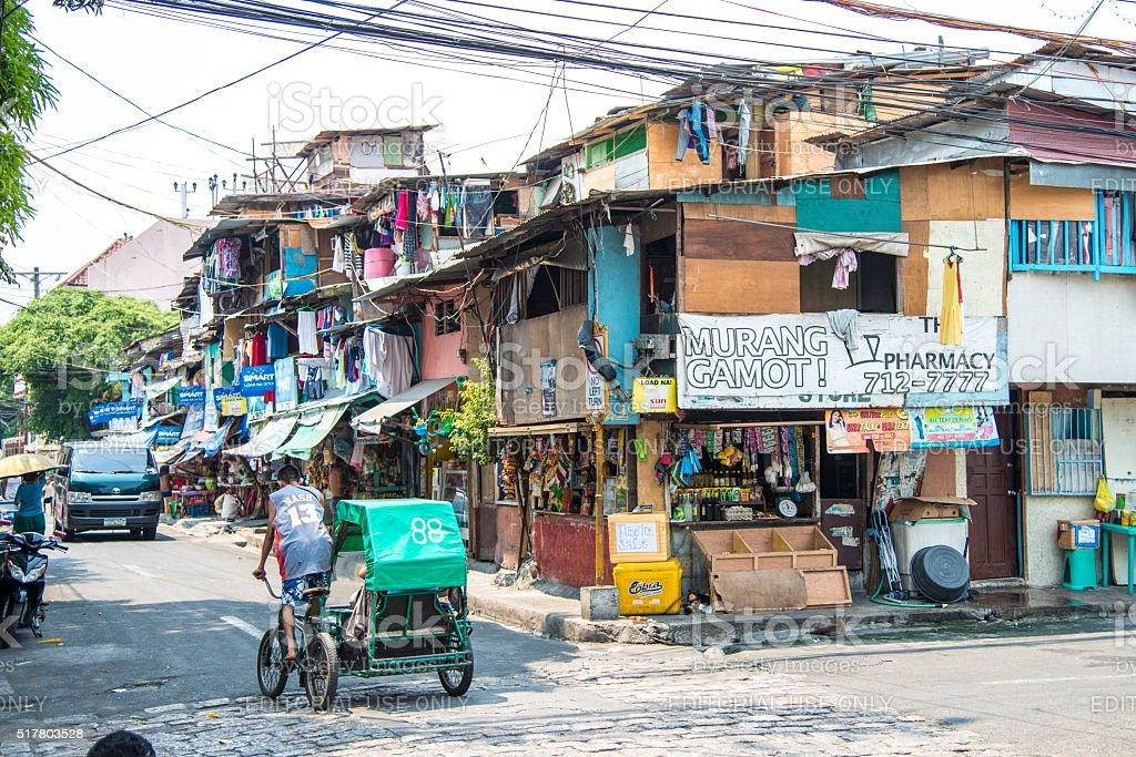 Street in Intramuros, Manila, Philippines stock photo