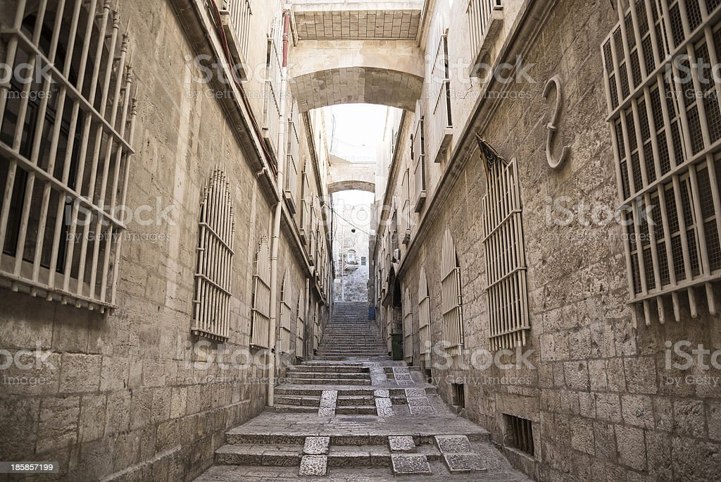 street in jerusalem old town israel royalty-free stock photo