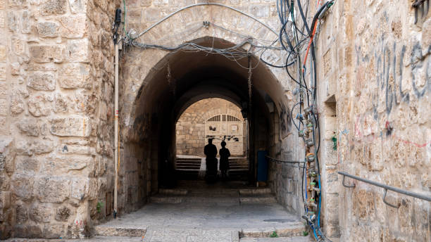Street in Jerusalem Side street in Jerusalem jerusalem old city stock pictures, royalty-free photos & images
