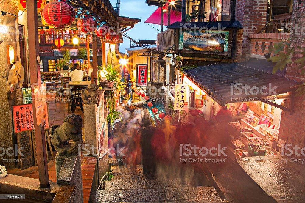 Street in Jiufen stock photo