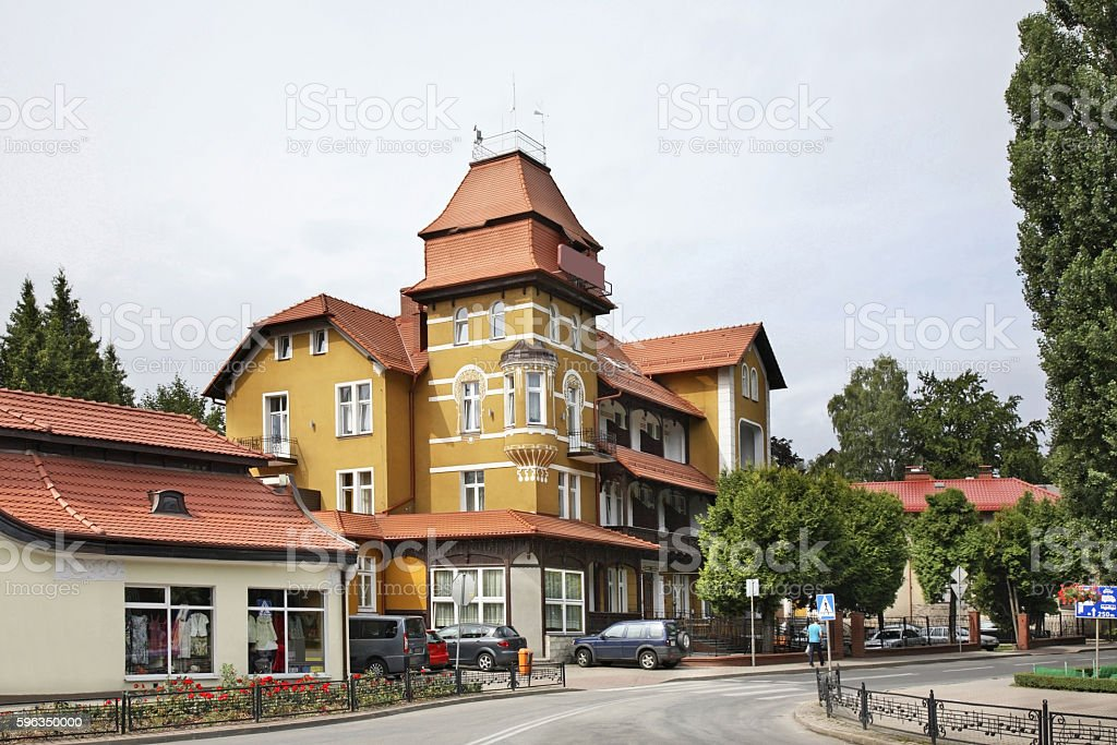 Street in Kudowa-Zdroj. Poland Lizenzfreies stock-foto