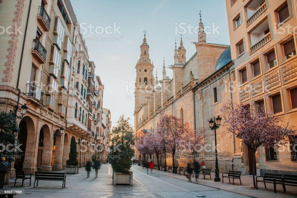 Street in Logroño, Spain stock photo