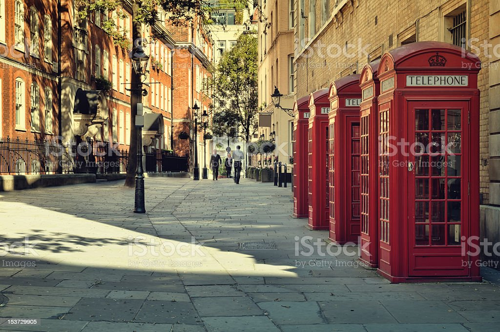 Street in London. stock photo