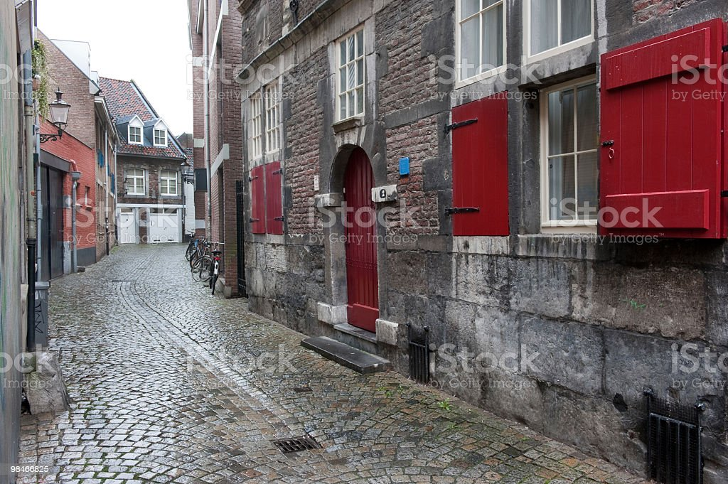 Street in Maastricht, Netherlands royalty-free stock photo