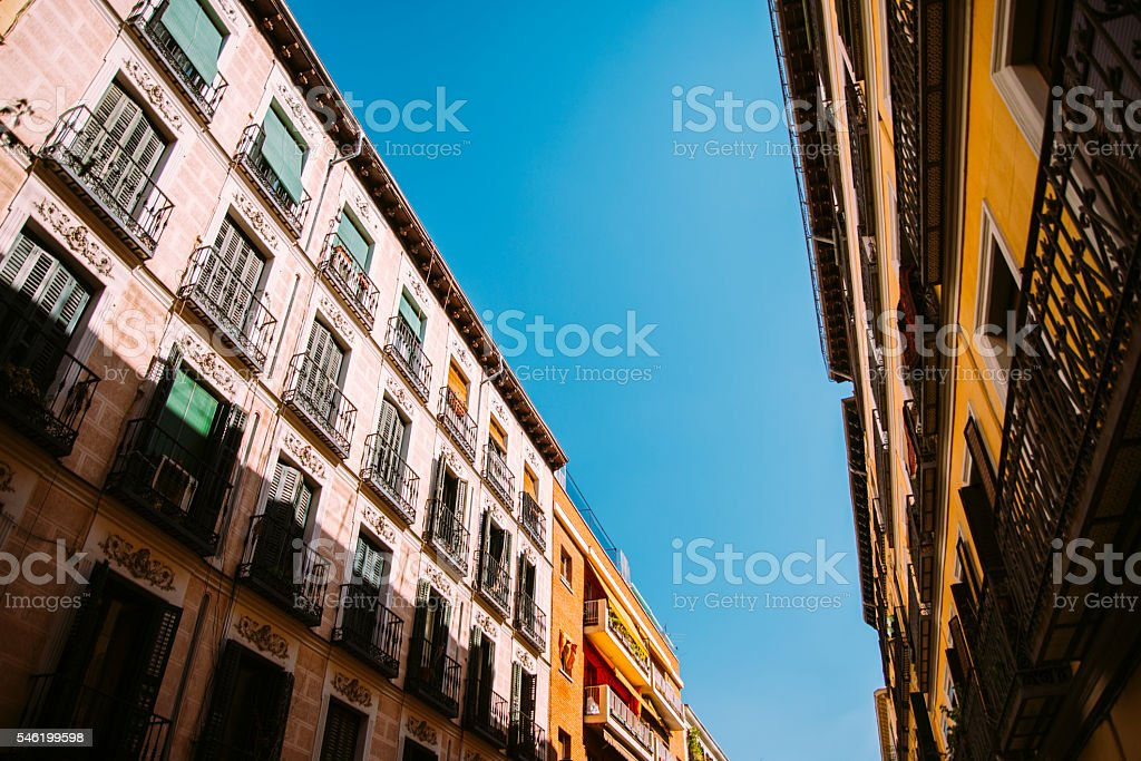 Street in Madrid stock photo