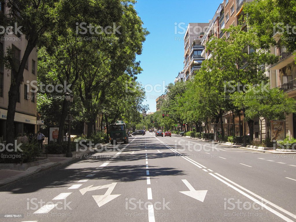 Street in Madrid, Spain stock photo
