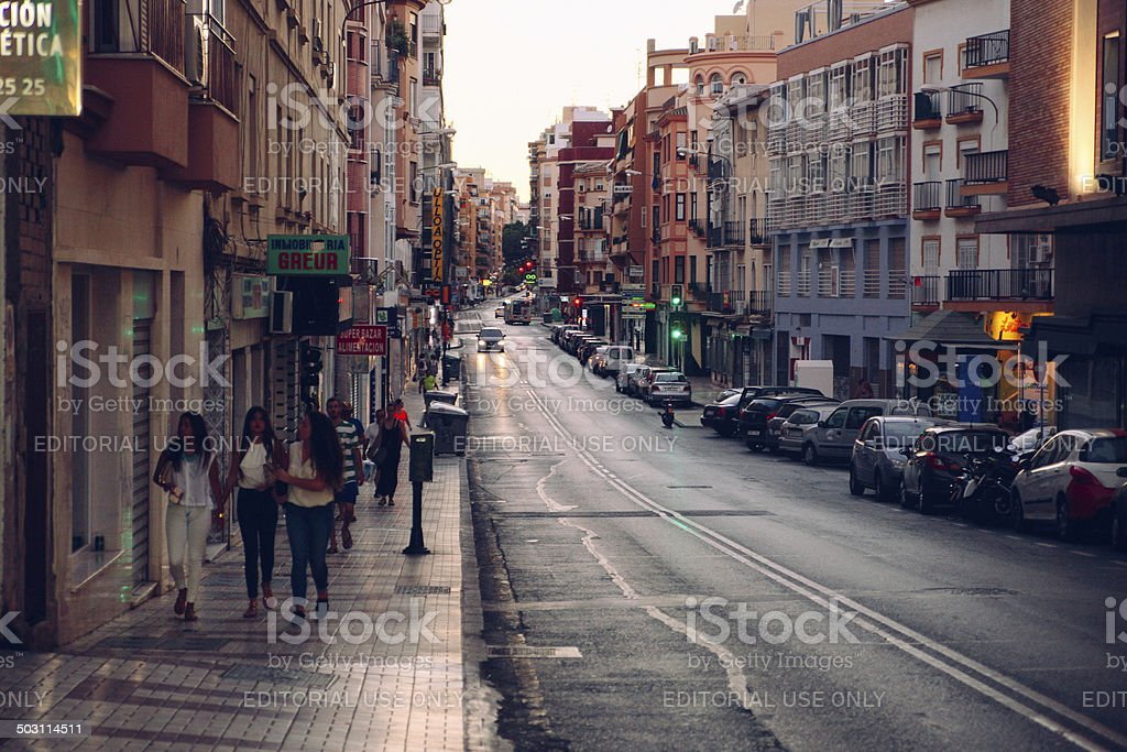 street in Malaga, Spain royalty-free stock photo