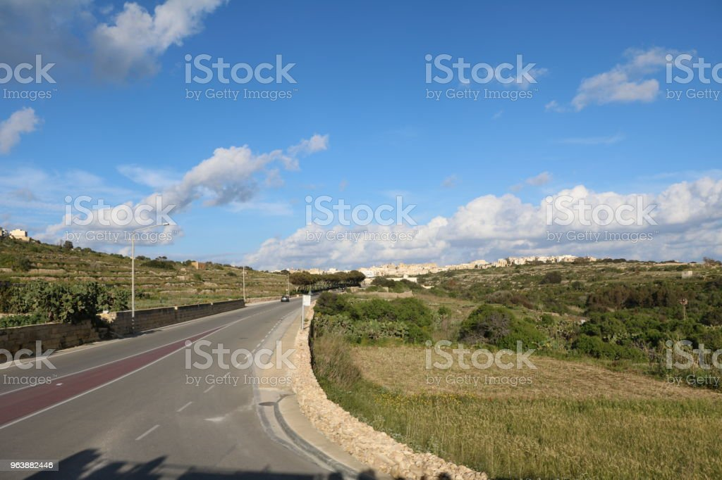 Street in Mġarr at Island of Gozo Malta, Mediterranean Sea - Royalty-free Agricultural Field Stock Photo