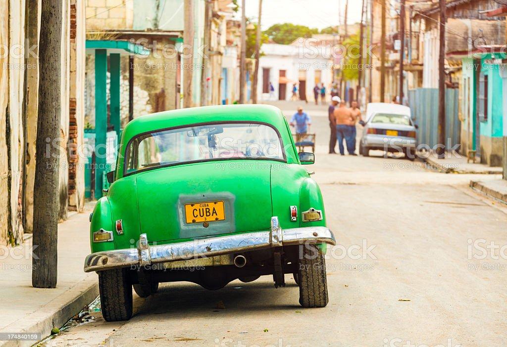 Street in Matanzas, Cuba royalty-free stock photo