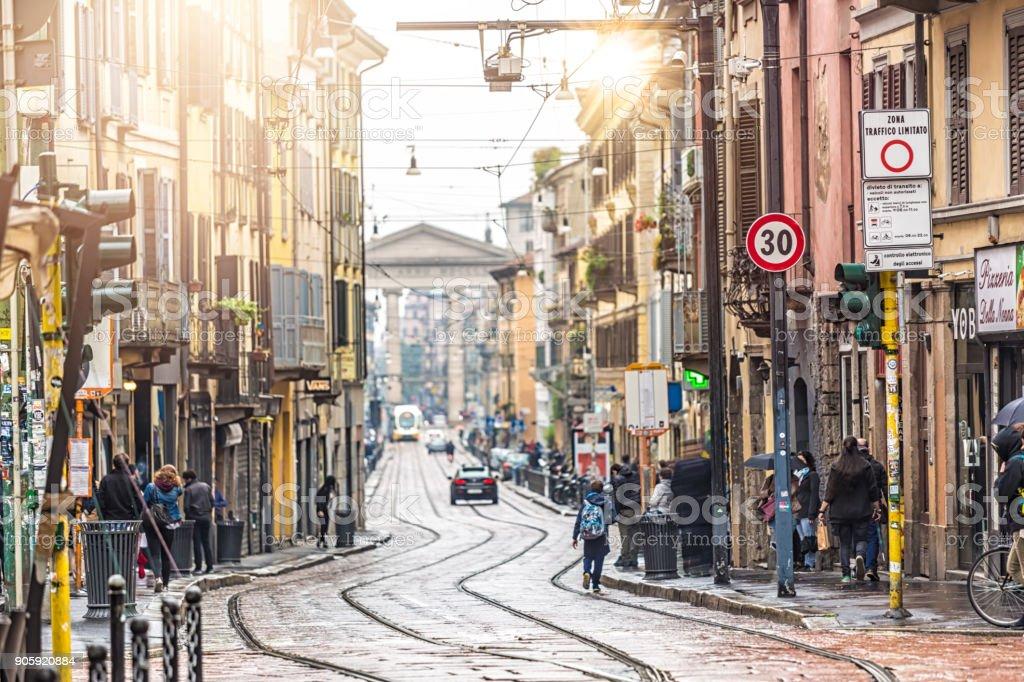 Straße in Mailand – Foto