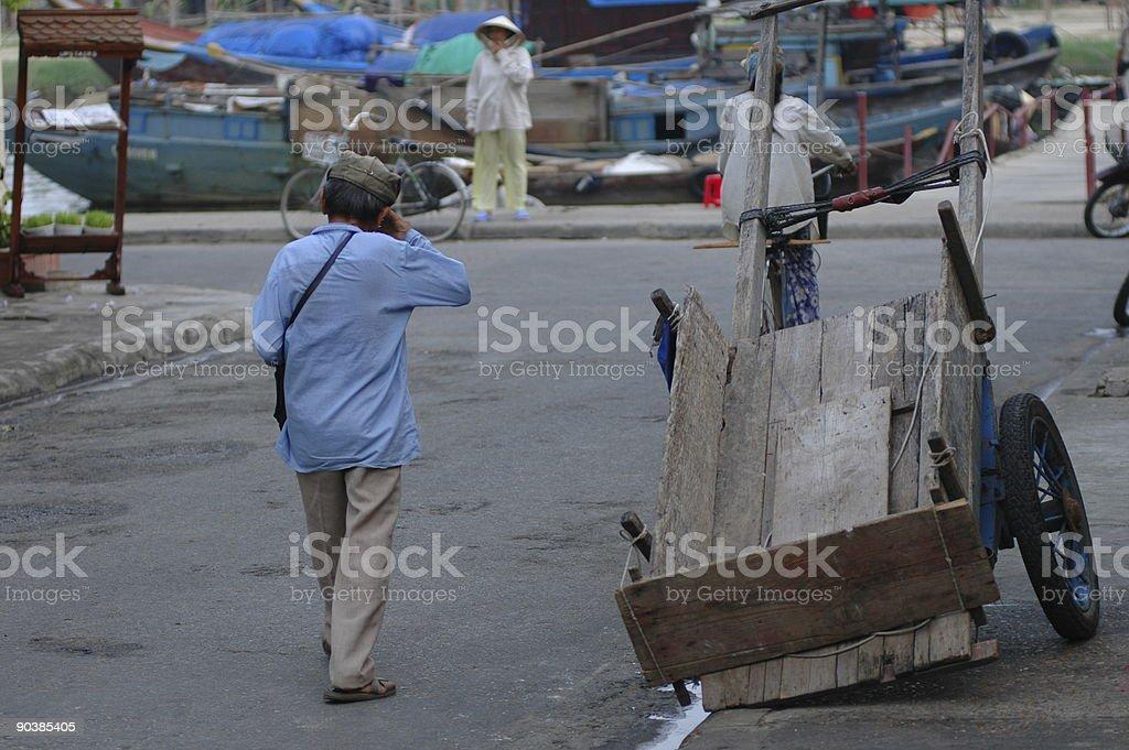 Street in Moi-Ne royalty-free stock photo