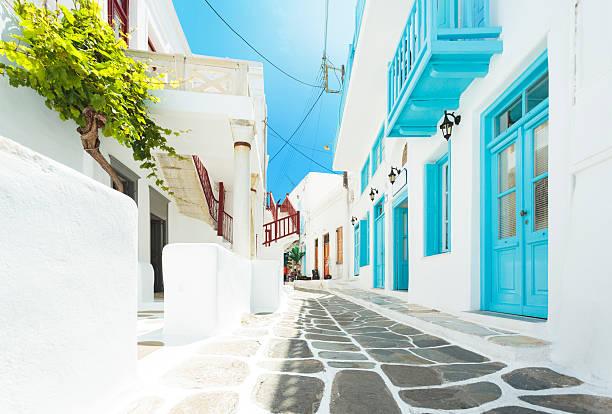 Straße in Mykonos, Griechenland – Foto