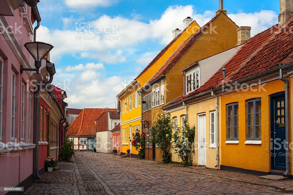 Street in Odense stock photo