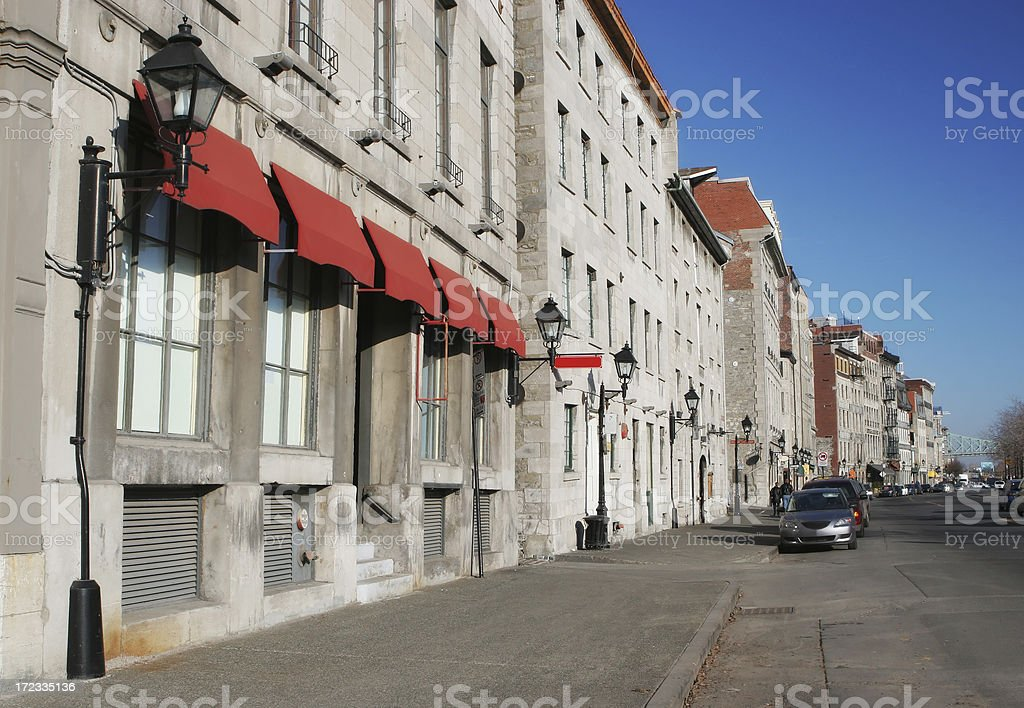 Street in old Montreal City royalty-free stock photo