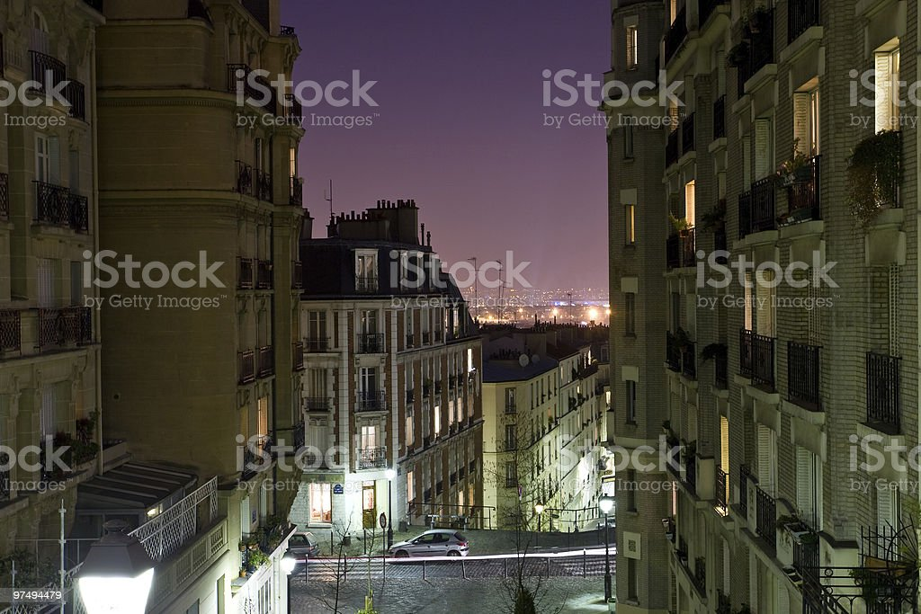 street in Paris France royalty-free stock photo
