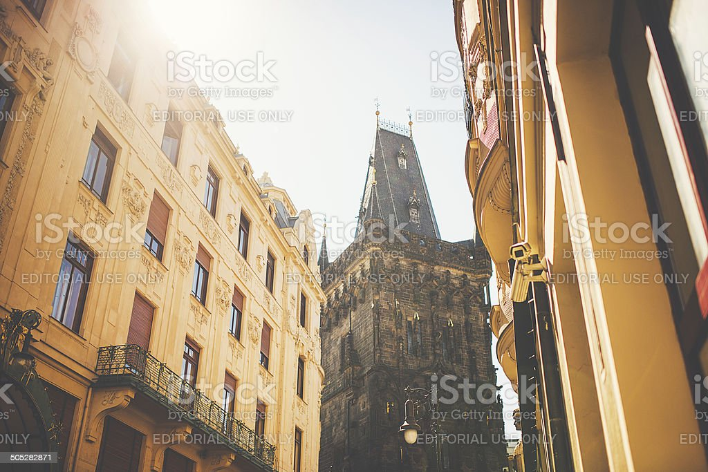 Street in Prague stock photo